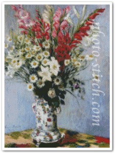 Bouquet Gladiolas,Lilies, and Daisies_B type